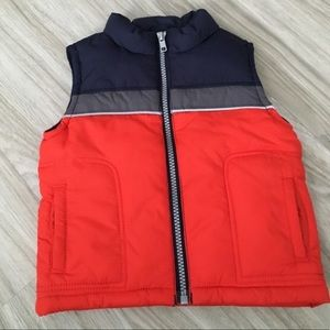 Baby Boy Puffer Vest Lined Never Worn